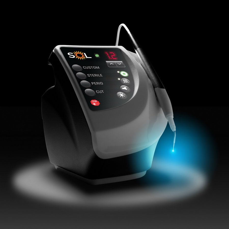 The Kavo dental laser is designed to treat soft and hard tissues. It has many applications in dentistry