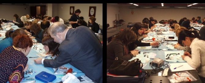 Course Dr. José Luis Padrós of the Dental Clinic Padrós. This continuing education dental course was a postgraduate dental aesthetic with practical