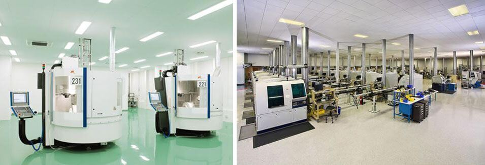 Facilities and laboratories of Nobel. They manufacture the dental implants we use at the Padrós dental clinic in Barcelona
