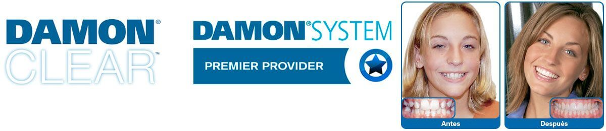 Logo of the company Damon, system used by the Padrós dental clinic in Barcelona