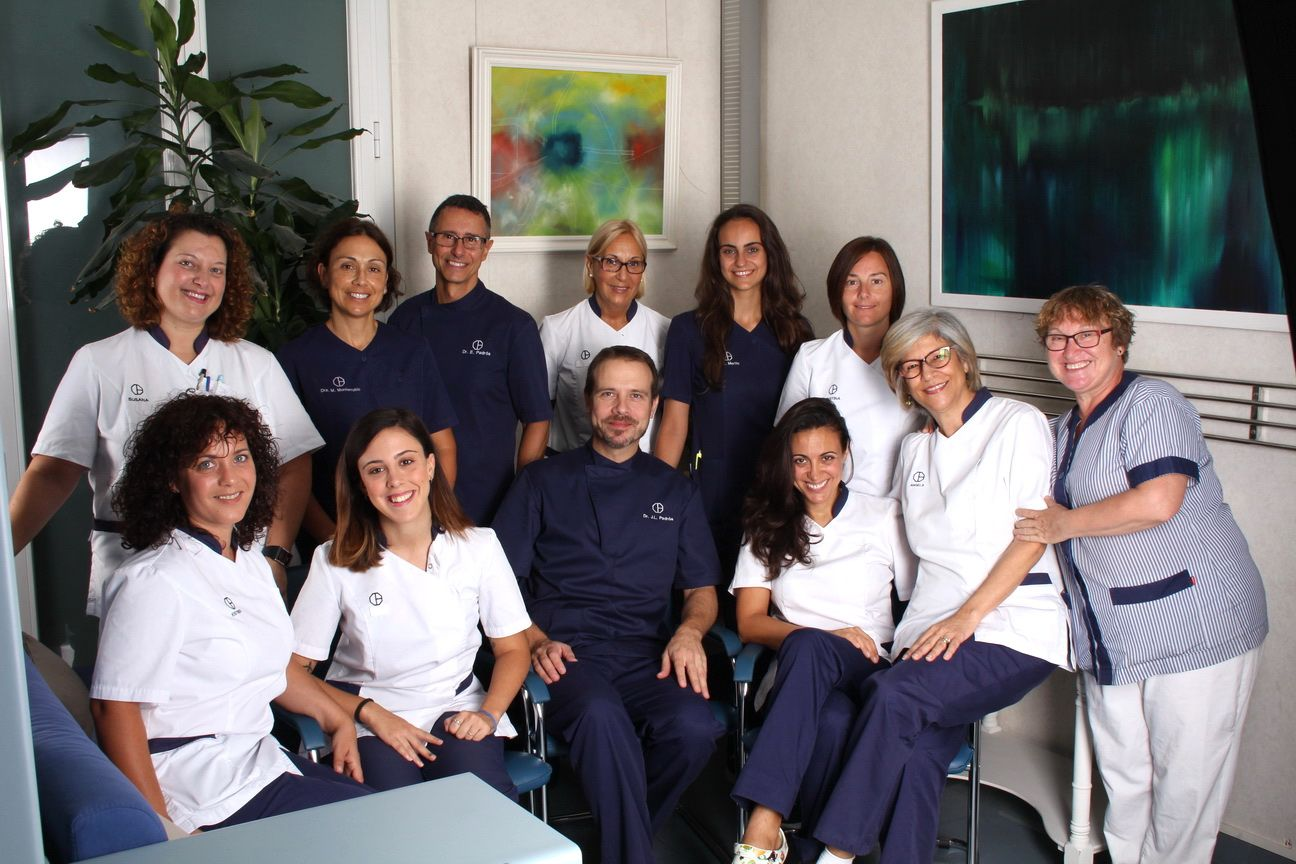 This is the team of the best dentist in Barcelona, the team of the Padrós Dental Clinic